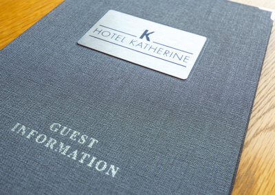 Photograph of Guest Information book